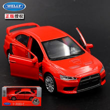 Welly 1PC 1:36 11.5cm Mitsubishi Lancer EVO car pull back alloy model children birthday gift(China)