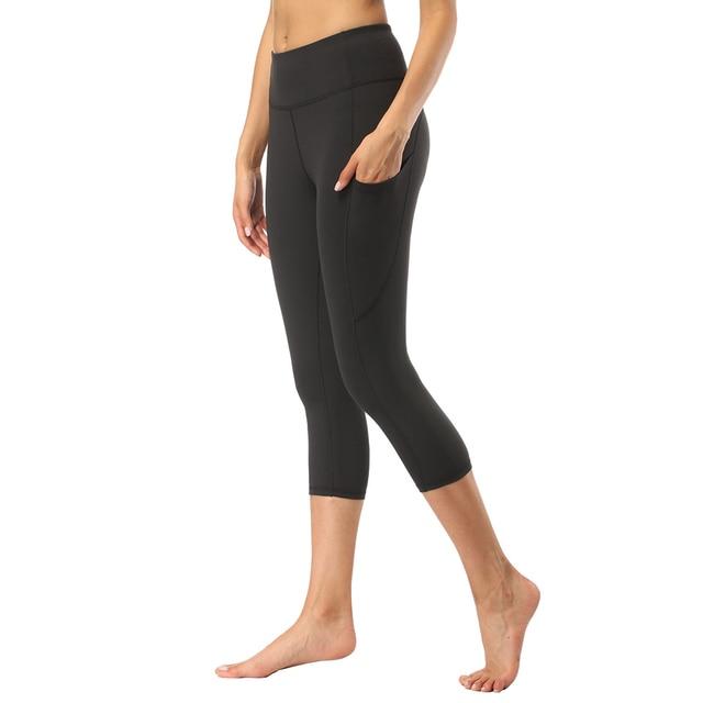 bfbf0b5aa5bca4 2019 New Yoga Leggings Women High Waisted Yoga Pants Gym Seamless Leggings  Elastic Exercise Tights For Fitness Running Sports