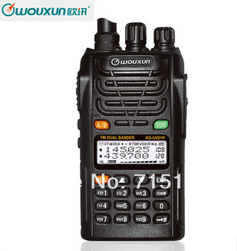 2 pz/lotto Protable Radio WOUXUN KG-UVD1P Walkie Talkie Dual Band Dual Visualizzazione WOUXUN KG UVD1P VHF e UHF A due way radio