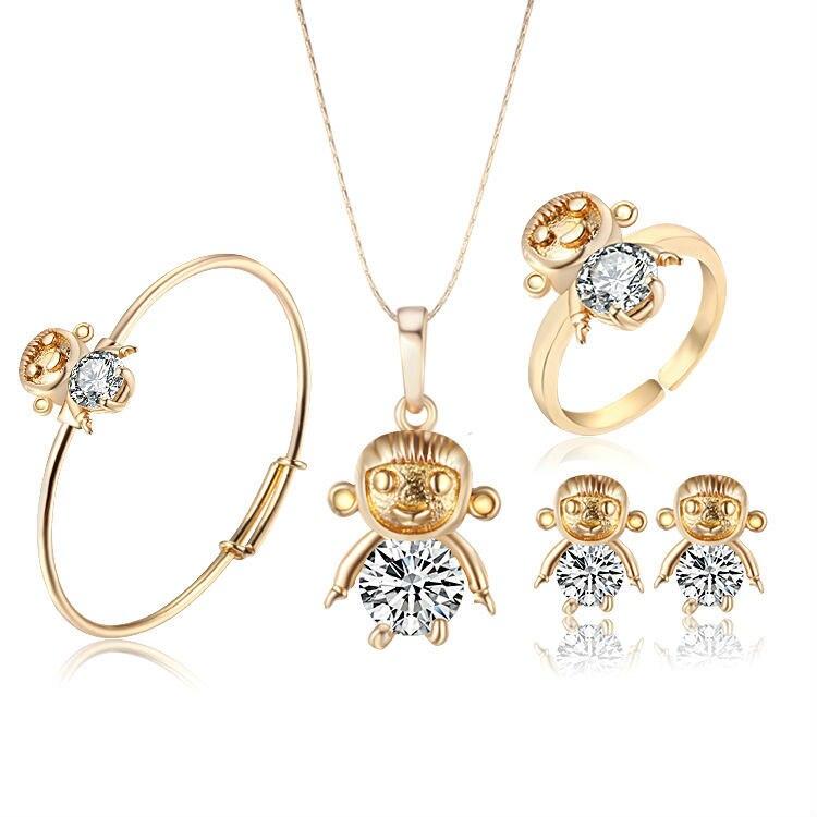 Aliexpress.com : Buy Brand Crystal Figure Baby Jewelry Set Girls ...