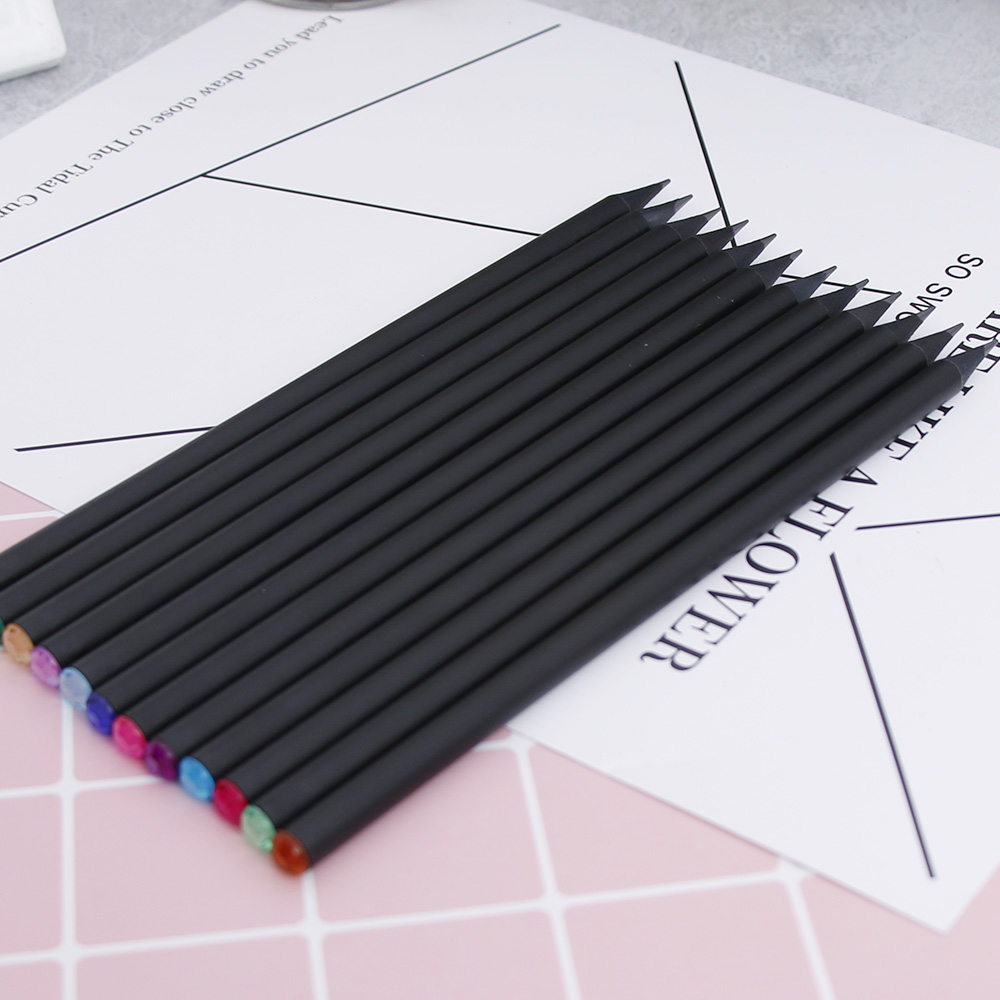 12pcs/Lot HB Diamond Pencil Stationery Items Drawing Supplies School Office Drawing Painting wood Pencil юбка united colors of benetton united colors of benetton un012egvwx57