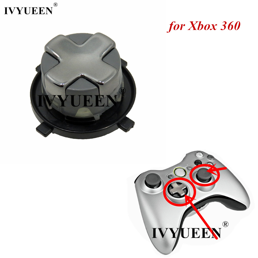 IVYUEEN for Xbox 360 Slim Wireless Controller D-pad Transforming Rotating Transformer Dpad Button Parts Video Game Accessories