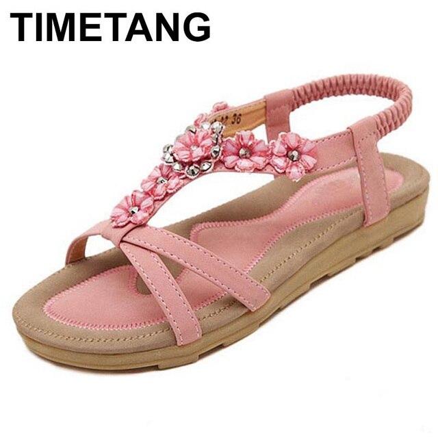3f47610f880d4 TIMETANG Big Size 44 Women Shoes Comfort Sandals Summer Fashion Flip Flops  High Quality Flat Sandals Gladiator Sandalias