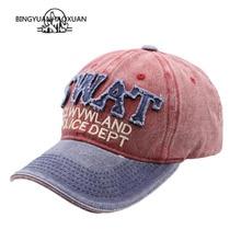 BINGYUANHAOXUAN New Baseball cap Retro Cotton Snapback Hats for Men Women Caps Casquette Letter Embroidery Cap