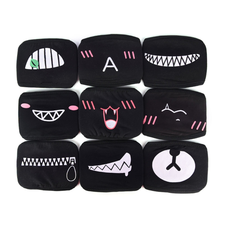 Face Mouth Mask Unisex Respirator Stop Air Pollution Lovely Cartoon Cotton Cover