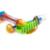 2 unids niños playa de arena cubo de juguete pala herramientas de moldeo de juguete de baño de múltiples funciones aerosol en la playa del mar pala + rastrillo pala paddle juguetes para bebés