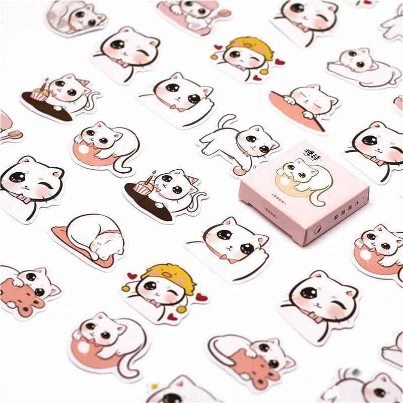 40 PCS Simplicity Number Sticker Date Decals Stickers Gifts for Children to Laptop Suitcase Guitar Fridge Bicycle Car