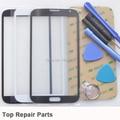 Cinza tela de toque frontal para Samsung Note 2 N7100 Black White substituição Outer lente de vidro 1 peça com Kits ferramentas adesivo