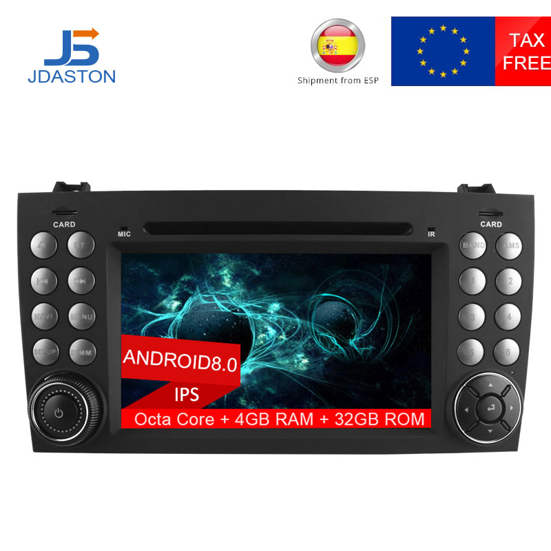 US $350 7 24% OFF|JDASTON2 DIN Android 8 0 Car DVD Player For Mercedes Benz  SLK Class R171 SLK230 W171 Car Radio Multimedia GPS Octa Cores 4G+32G-in