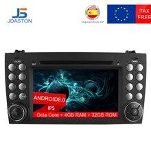 JDASTON2 DIN Android 8,0 dvd-плеер автомобиля для Mercedes-Benz SLK класса R171 SLK230 W171 автомобилей радио мультимедиа gps восемь ядер 4G + 32 г