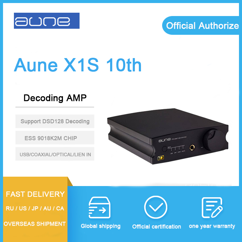 Aune X1S 10th Headphone Amplifier 9018K2M chip decoding 32BIT/384K DSD128 USB/COAXIAL/OPTICAL/LIEN IN input dac amplifier ampAune X1S 10th Headphone Amplifier 9018K2M chip decoding 32BIT/384K DSD128 USB/COAXIAL/OPTICAL/LIEN IN input dac amplifier amp