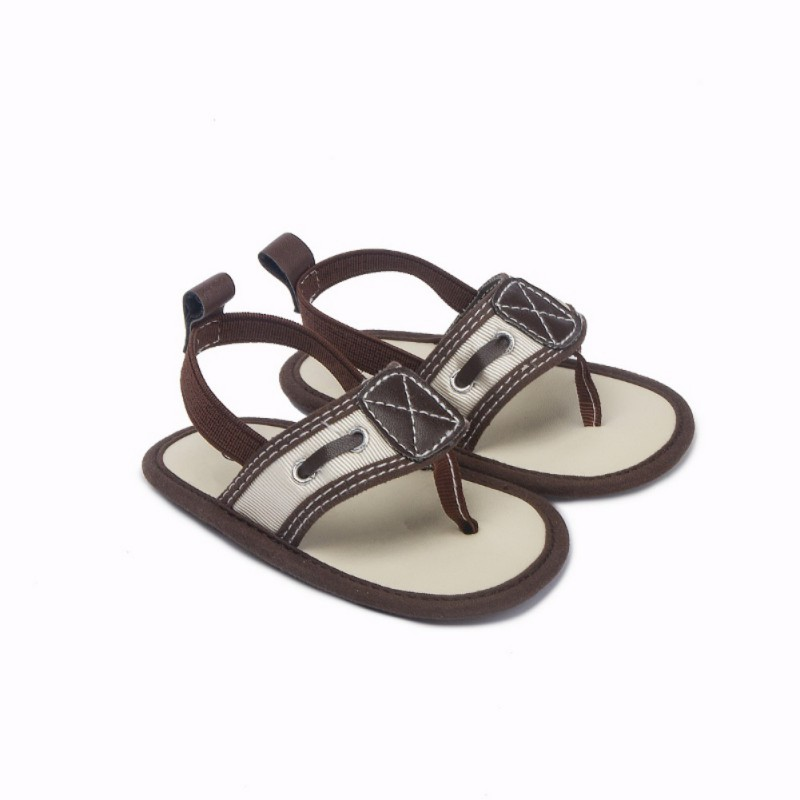Summer Baby Sandals Herringbone Baby Shoes Indoor Boy Sandals Soft Breathable Bottom Non-slip Baby Shoes