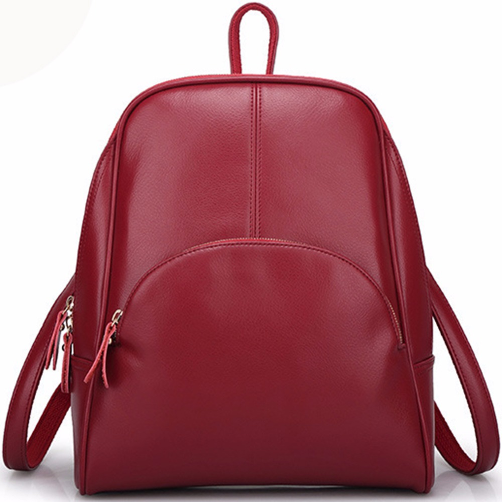 Handmade Fashion Style Genuine Leather Women Backpack Shoulder Bag Leather Backpack for Women