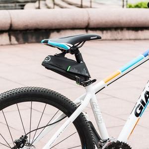 Image 5 - ROCKBROS אטים לגשם אופניים תיק עמיד הלם אופני אוכף תיק עבור Refletive אחורי גדול Capatity Seatpost MTB אופני אביזרי תיק