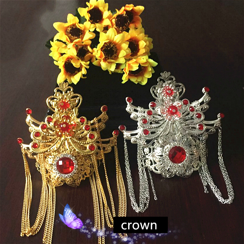 Novelty & Special Use 4 Colors Handmade Warrior Hair Accessories Swordsman Cosplay Chinese Ancient Hair Accessories Crown Halloween Prince Cosplay