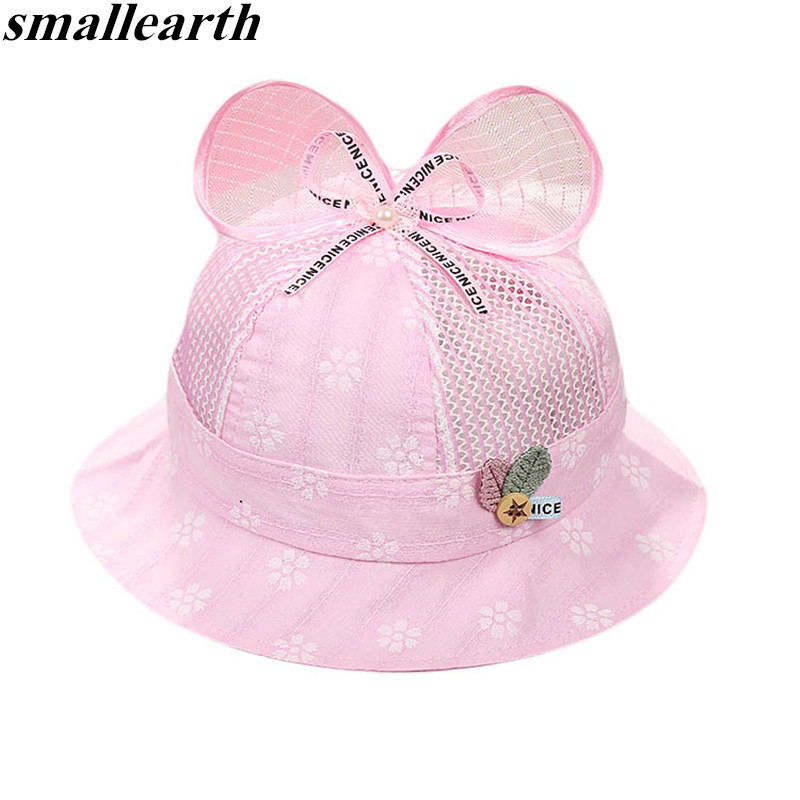 Ambitious Summer Baby Hat Cotton Sun Hat For Girls Boys Children Bucket Cap Kids Basin Caps Beach Sun Fisherman Hat Breathable Mesh Caps Selling Well All Over The World