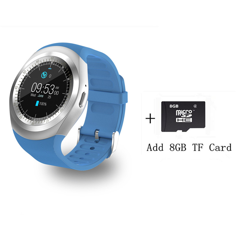 Bluetooth Smartwatch Y1 Smart Watch  2G GSM SIM App Sync Mp3 for Apple iPhone HTC huawei Xiaomi Android Phones pk V365/kw18/G3 meanit m5