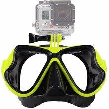 ZJM diving mask for gopro mount Tempered Glasses for gopro Hero HD 5,4,3+,3,2,1, Sj4000 SJ5000 Camera go pro