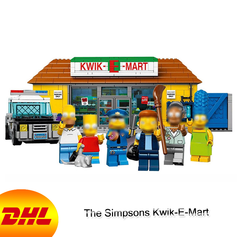 HF Movie Figures 2232Pcs The Simpsons Kwik-E-Mart Model Building Kits Blocks Bricks Toys For Children Gift Compatible With 71016 kazi 608pcs pirates armada flagship building blocks brinquedos caribbean warship sets the black pearl compatible with bricks