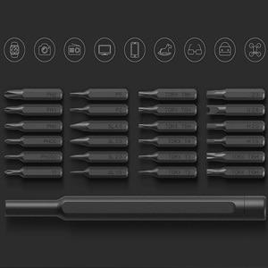 Image 3 - Originele xiaomi Mijia Wiha Dagelijks Gebruik Schroevendraaier Kit 24 Precisie Magnetische Bits AL Doos Schroef Driver xiaomi smart home Set