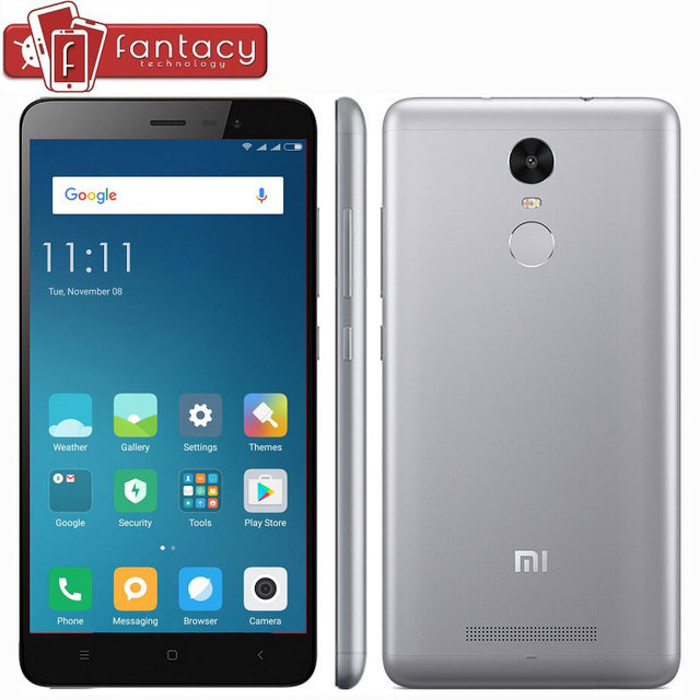 "Original Xiaomi Redmi Note 3 Snapdragon 650 Hexa Core Fingerprint ID Full Metal FDD LTE 4G 5.5 "" MIUI 8 4050mAh Mobile Phone"