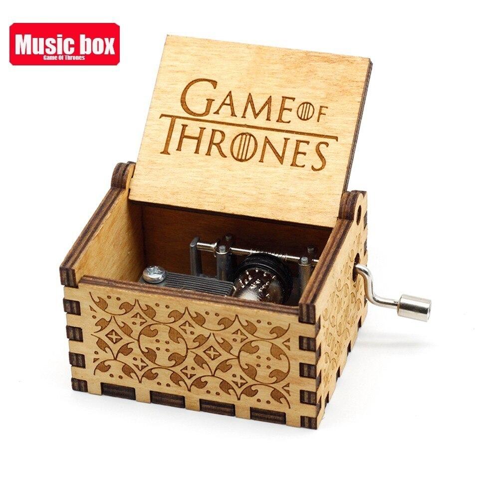 Новая музыкальная шкатулка La Vie En из розового дерева, крутые подарки на день рождения, детская вечеринка, Звездные войны, игра на трон, детские подарки - Цвет: Game of Thrones