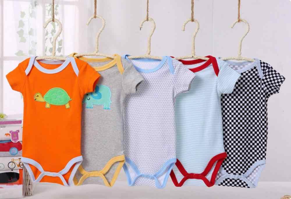 1 Uds. Bebé de manga corta Bodysuit niñas verano ClothingBody ropa infantil Unisex