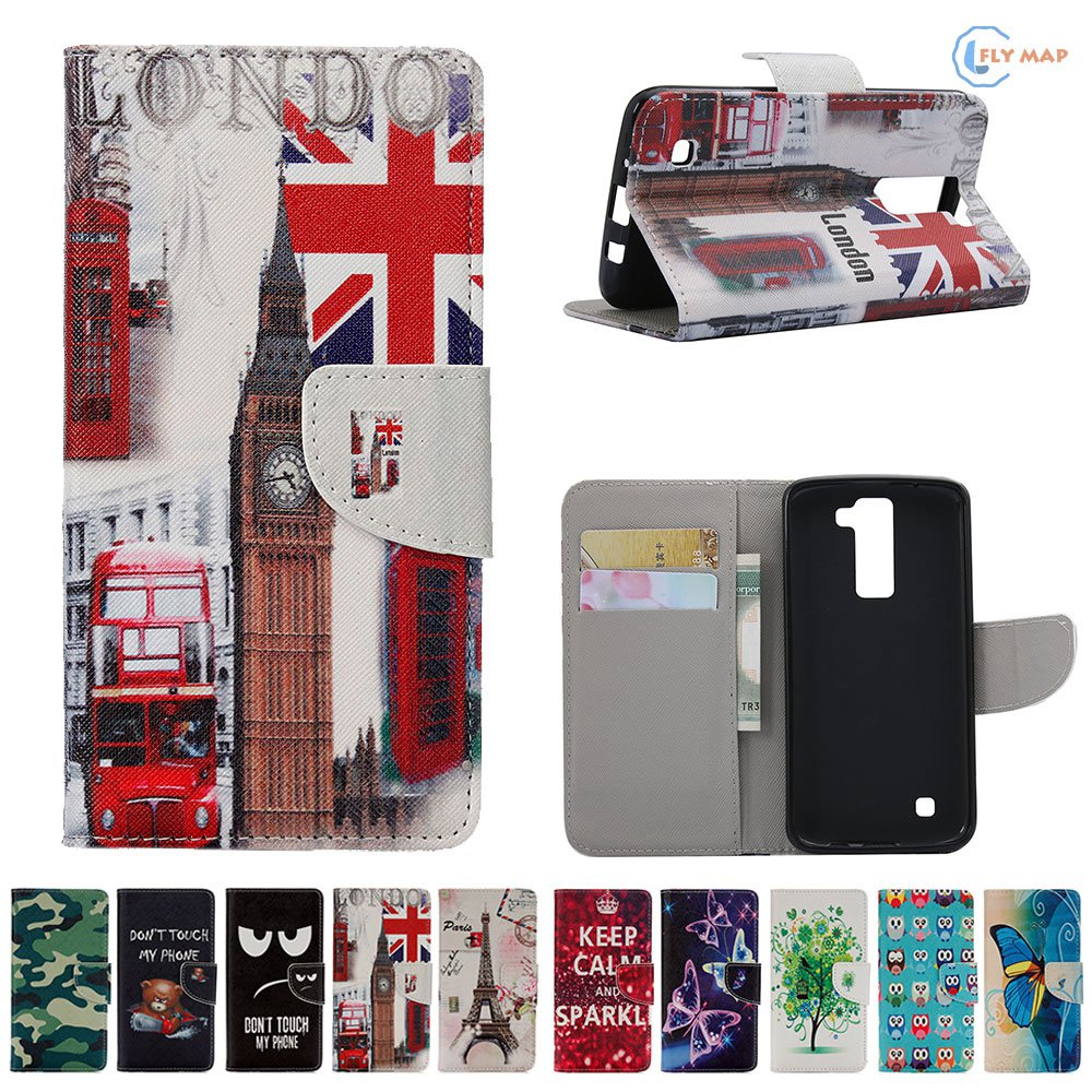 Coque for LG K8 4G LTE K350 E K350E LGK8 K350N Flip Case Phone Leather Cover for LG K 8 350 350E 350N LG-K350E Silicone Capa Bag