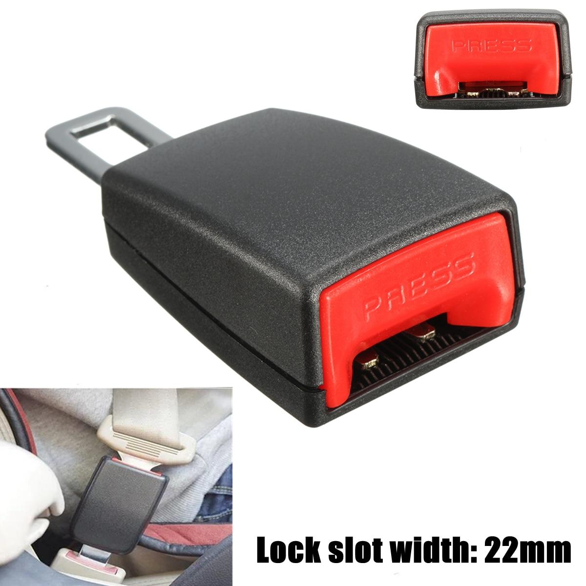 1x 22mm Car Seat Belt Latch Buckle Safety Belt Buckle Plug Adapter w// Alarm Wire