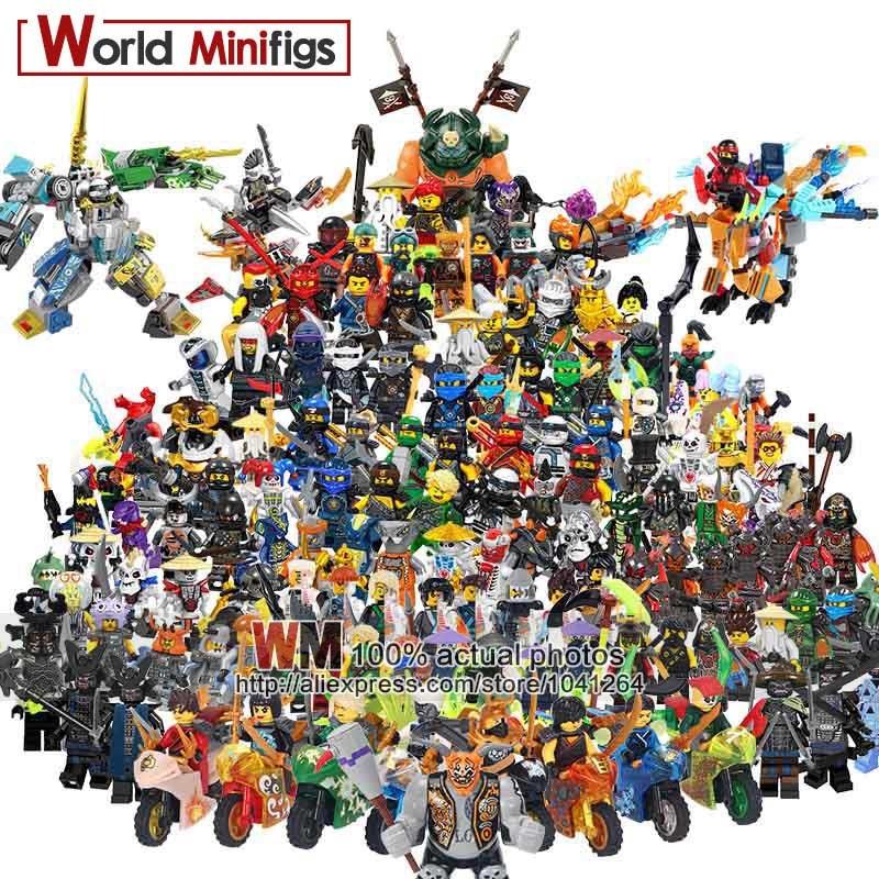 Single  Master Wu Kai Jay Cole Zane Lloyd Four Eyes Lord Garmadon Building Blocks Kids Gifts Toys