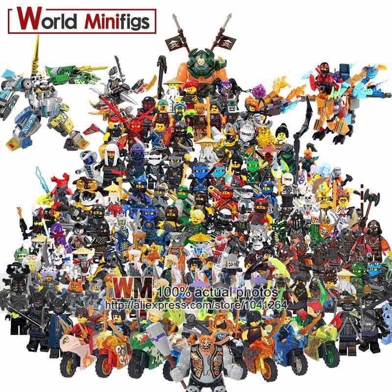 Один мастер Wu фигурки Kai, jay, Cole Zane Lloyd четыре глаза Lord Garmadon строительные блоки детские подарки игрушки