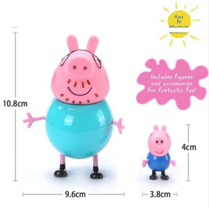 Image 3 - 4pcs/set Peppa pig Family George Pig Action Figure Original Family  Dad Mom Pig Model Doll Birthday Christmas Gift Kid for Toys