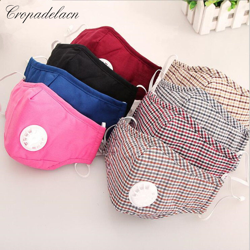 CROPADELACN Cotton PM2.5 Anti Haze Breath valve anti-dust mouth mask
