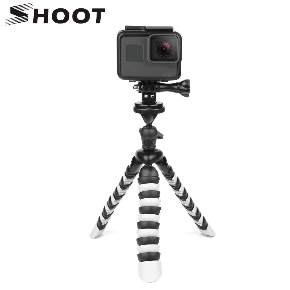 TIRER Portable Mini Flexible Octopus Trépied pour GoPro Nikon Sony DSLR Caméra Avec Téléphone Clip Pour iPhone Xiaomi Mobile Téléphone