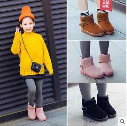 الشتاء الأطفال الثلوج الأولاد الجوارب 2018 جديد الفتيات في الأطفال كبير زائد المخملية الدافئة الفتيات القطن الأحذية