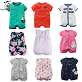 2017 Summer Baby Rompers Short Sleeve Baby Girls Clothing Sets Floral Print Kids Jumpsuits Newborn Baby Boy Clothes Roupas Bebes