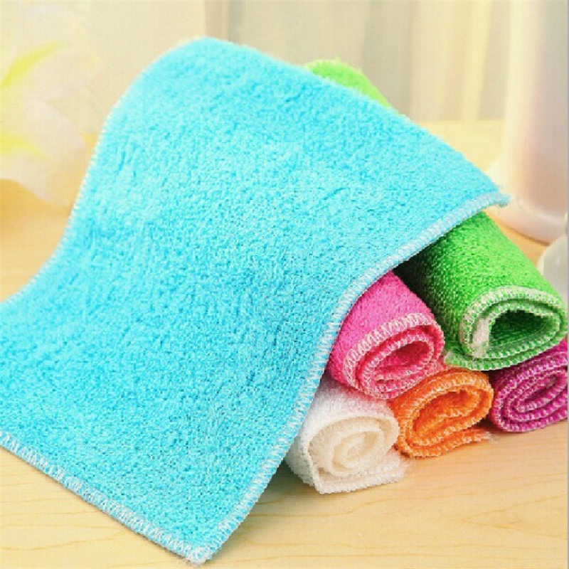 1PC Six Colors High Efficient Microfiber Anti Fett Dish Cloth Bamboo - Hushållsvaror