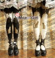 Kawaii Womens Harajuku Palace Cat Lolita Tights Pantyhose Cute Rubber Printing 120D Good Quality