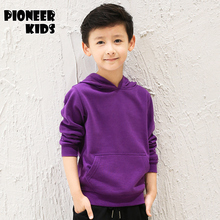 Pioneer kids New 2016 boys clothing Sport Boys Hoodies clothes Cotton solid color hooded sweaters baby boys hoodies outwear