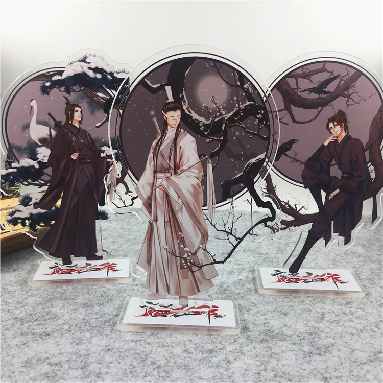 Anime Mo Dao Zu Shi Comic Acrylic Stand Figure Model Plate Holder Cake Topper Anime Comic Game