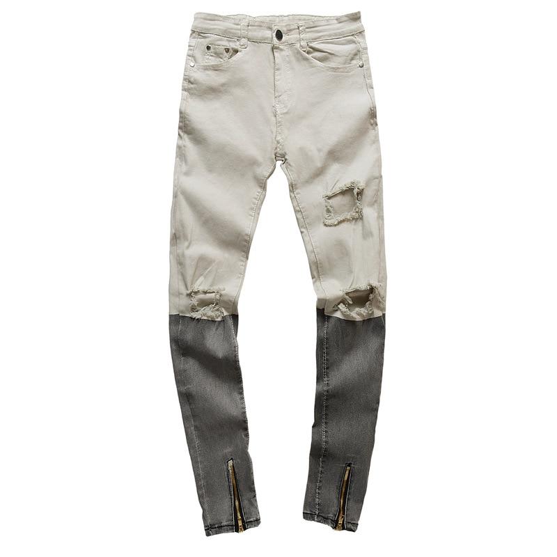 Denim Strappati Uomo B Rock Distressed Casuale Pantaloni Maschio Jeans  Roccia Hiphop Da Homme Jean Biker ... a21a78acd65d