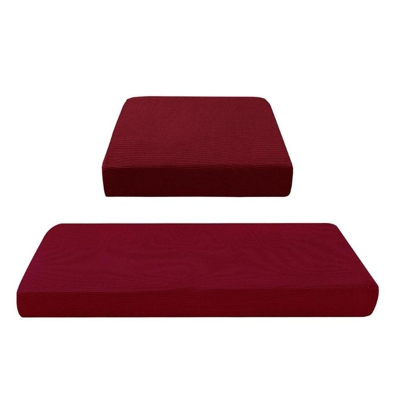 Removable Knitting Sofa Cover Stretch Couch Towel Slipcover Wine Red Couch Towel Single Three Four Seaters Tight Wrap Slipcover