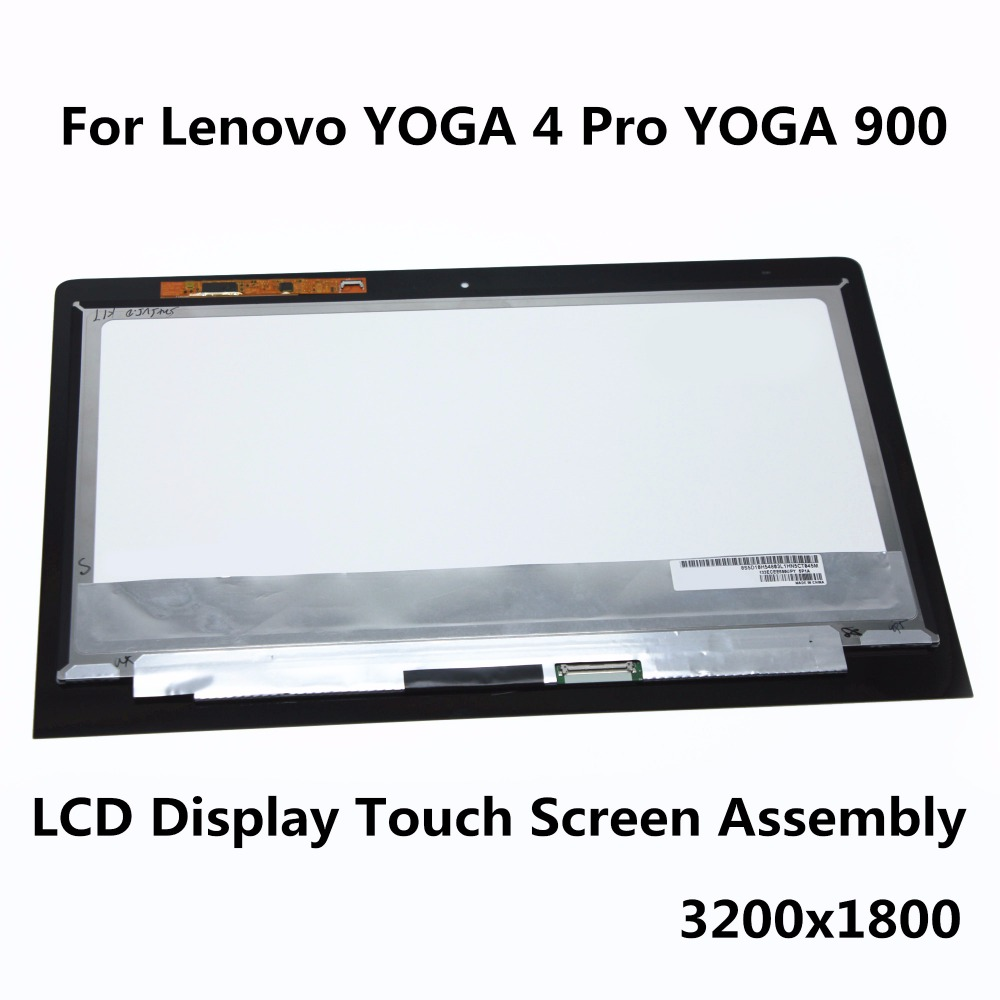 3200x1800 Laptop LCD Assembly For Lenovo YOGA 4 Pro (YOGA 900) LCD Display Touch Screen Digitizer Replacement Repair Panel Part мобильный телефон lenovo k920 vibe z2 pro 4g