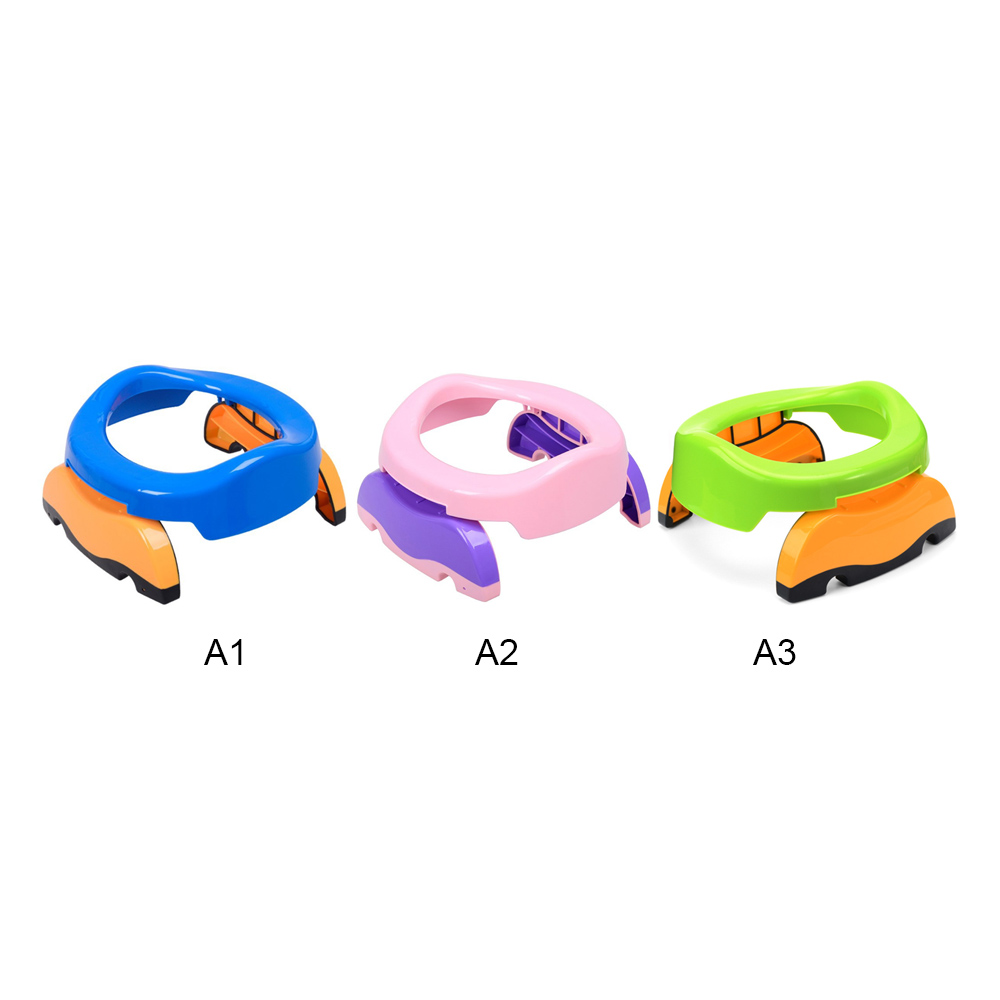 2 in1 Kids Portable Toilet Seat Baby Travel Potty Seat Comfortable Assistant Training Girls Boy Potty Kids Chair Toilet Seat