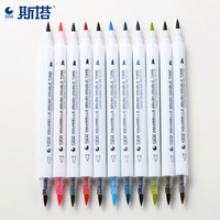STA 14 Twin Tip Brush Markers Art and Graphic Drawing Water Based Ink Non-toxic Aquarelle Brush Double Tone
