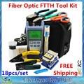 18 En 1 Kit de Herramientas con Cuchilla De la Fibra FC-6S De Fibra Óptica y Medidor de Potencia Óptica 5 km Laser Pen Localizador Visual Strippers