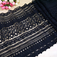 Ultra Wide Clothing Textiles Short Skirt Lace Hem Repair Decoration Accessories Black Milk Silk Lace Fabric