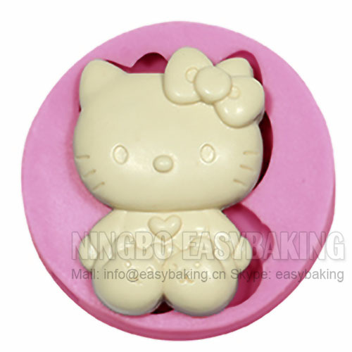 Cute Kitty With հողաթափերով Silicone Mould Cake Decorating Silicone Mould For Fondant Chocolate Jewelry Jewelry PMC Resin Clay