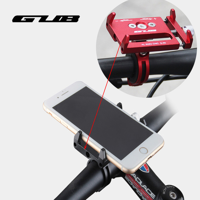 GUB Metal CNC Bike Bicycle Universal Cell Phone Holder Motorcycle Handlebar Mount Handle Phone Support For 3.5-6.2″ iPhone GPS