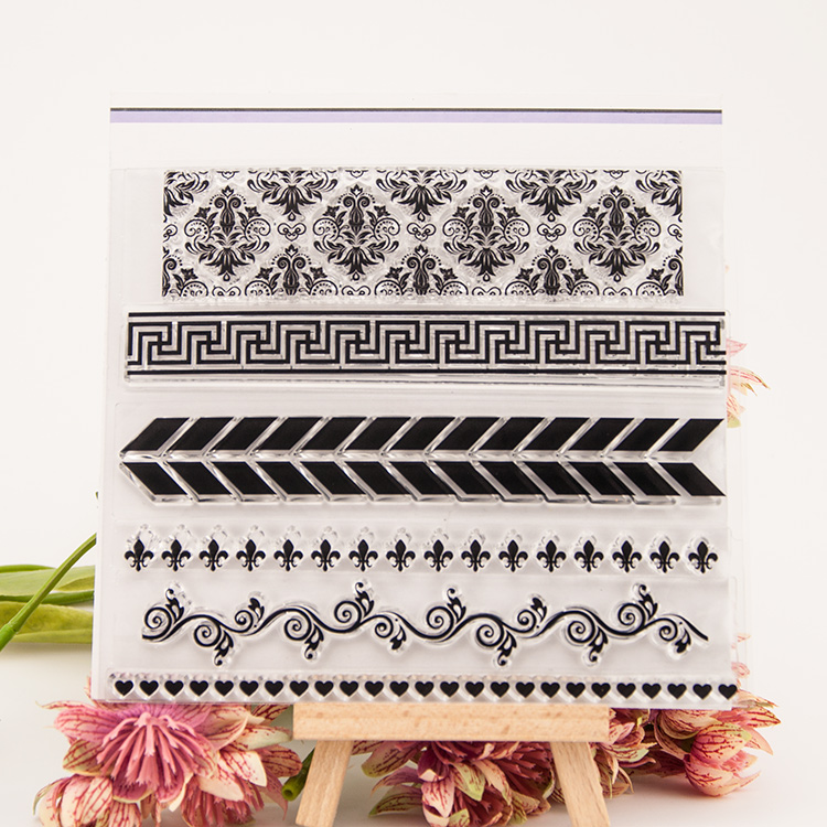 Free ship Clear stamp Base border pattern Scrapbook DIY photo cards account rubber transparent seal handwork art Kid gift bird cage swallows scrapbook diy photo cards account rubber stamp clear stamp transparent handwork art seal school kid gift